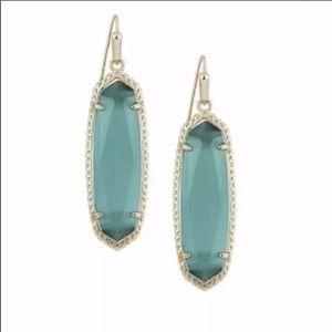 Kendra Scott Emerald Glass Earrings NIB $65 NWT